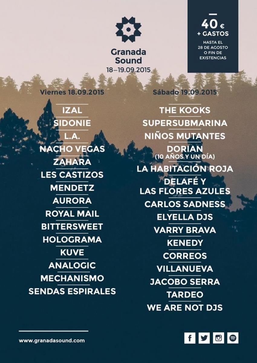 cartel por dias granada sound 2015