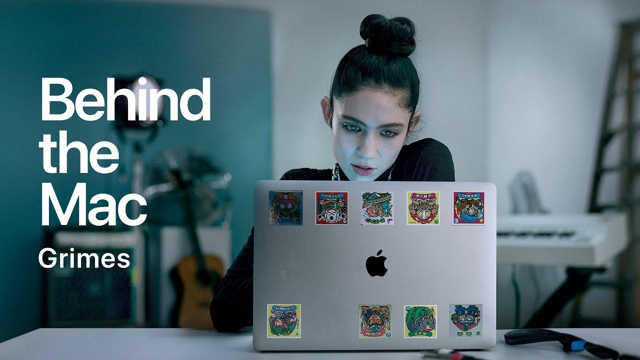 grimes en apple commercial watch