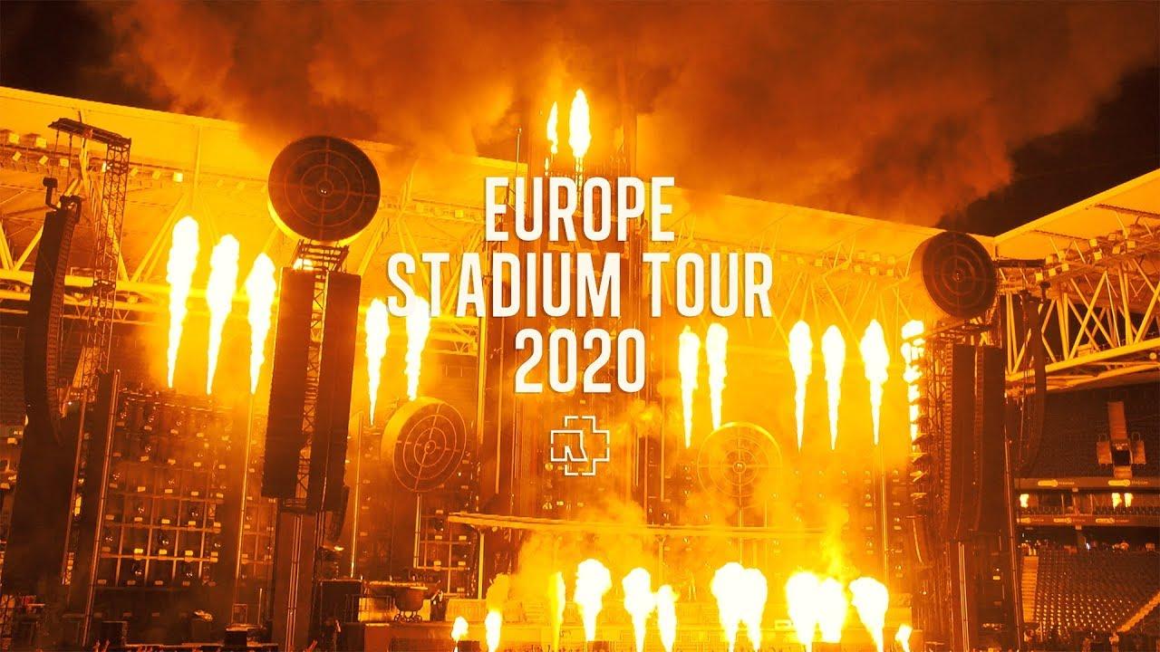 europe stadium tour 2020 rammste