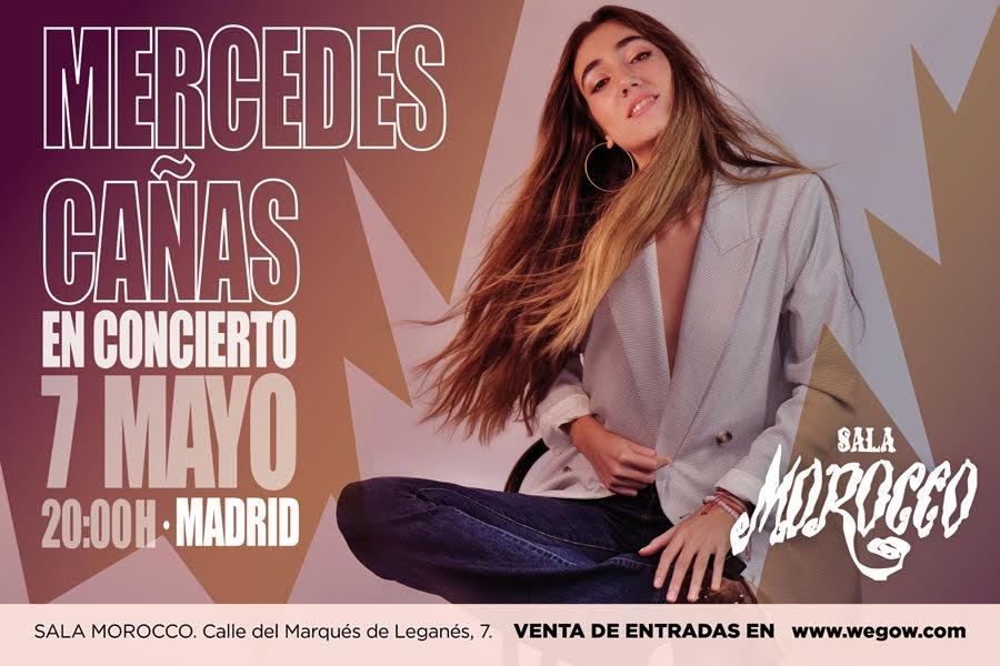 la música de Mercedes Cañas se presenta en Madrid el 7 de mayo en la sala Morocco